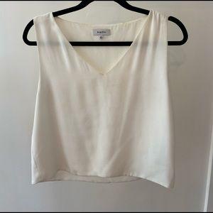 Aritzia Babaton white blouse tank